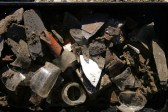 Finds, including brown teapot spout; 14th June 2013.