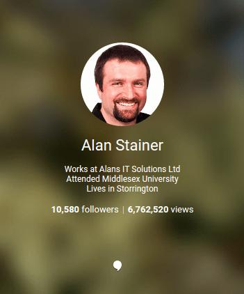 Google+ follower count