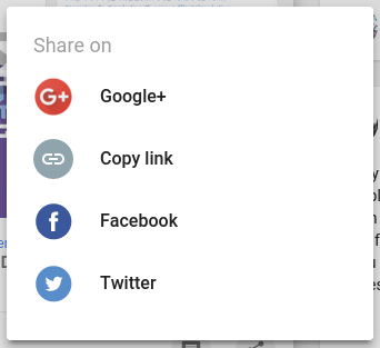 New sharing options in Google+