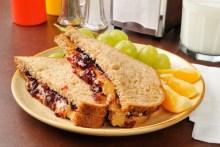 Georgia peanut butter jelly sandwich