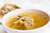 Chinese style soup with day lily and sparerib