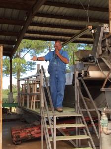 Fleet explaining peanut cleaning equipment