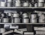 kitchen clutter pots and pans