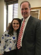 """Josie Tomkow with her """"Uncle"""" Wilton Simpson. Senator Wilton Simpson, R- Spring Hill, majority leader Florida Senate"""