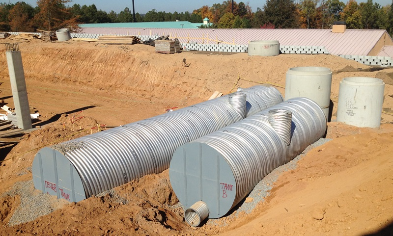 Corrugated steel pipe - large tanks