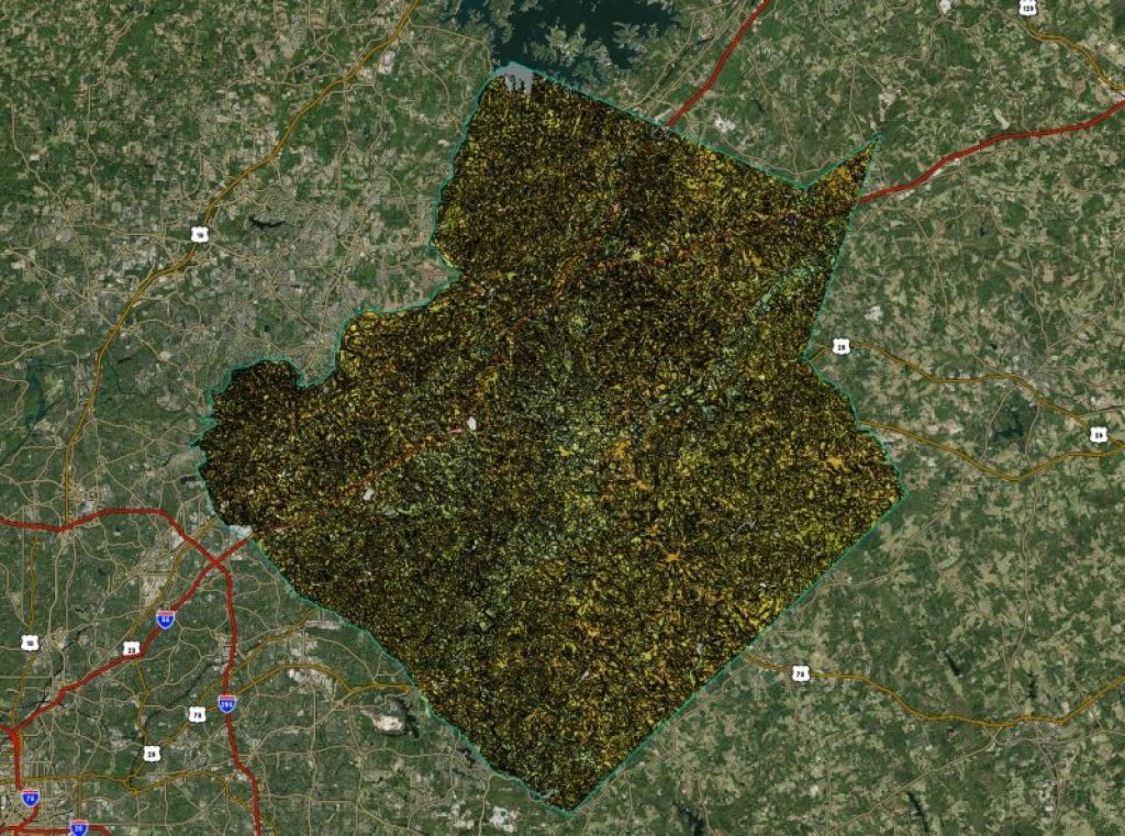 The USDA Natural Resources Conservation Service provides soil survey information online, which allows you to select an area of interest and download the expected soil and water characteristics based on the recorded soil surveys. Let's look at the soil conditions in the Atlanta area, using Gwinnett County as an example again.