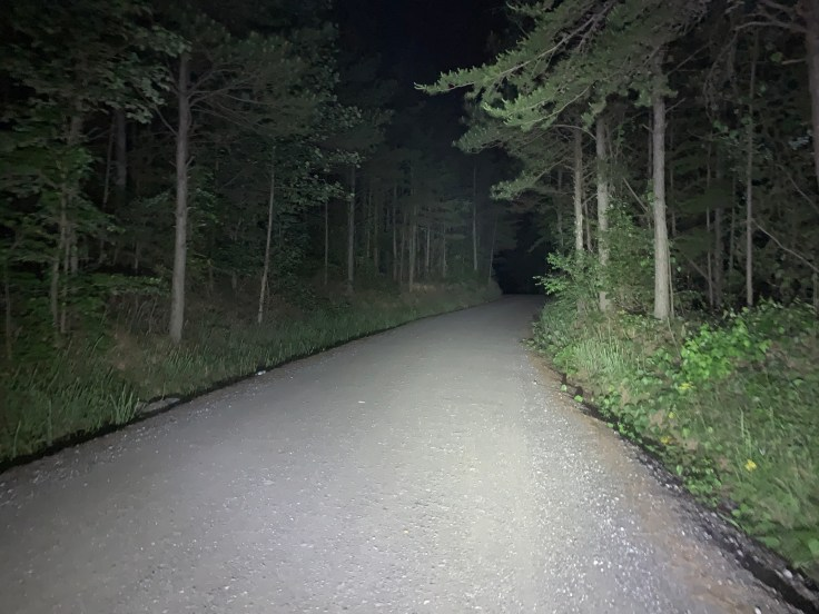 Cochran Rd at Night on the Lucas Loop route