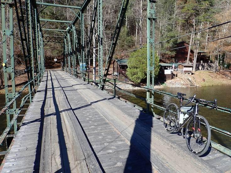 The antique steel bridge in Aska on the Tocoa Swining Bridge route.
