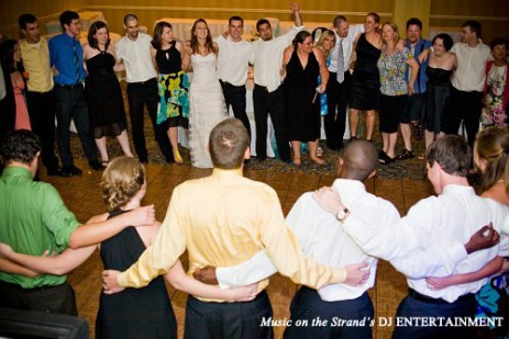 The Myrtle Beach DJ has the wedding guests gather in a close friendship circle for the last song of the reception.