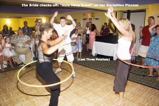 "The bride checks off ""Hula Hoop Event"" on her Reception Planning Form."