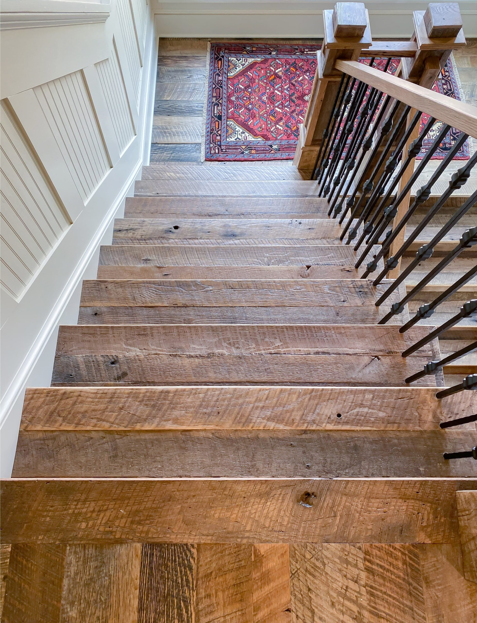 Antique Reclaimed Original Face Oak Stair Treads Risers | Reclaimed Oak Staircase For Sale | Spindles | Reclaimed Wood Stair Railing | Spiral Staircase | White Oak | Architectural Salvage