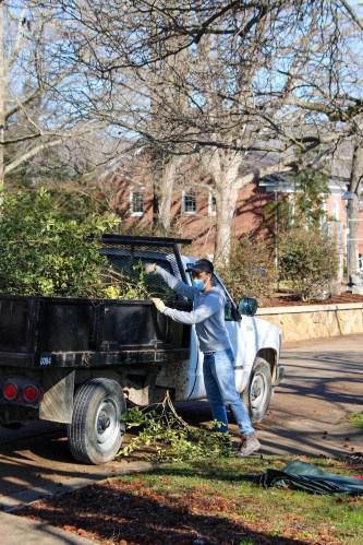 Landscaping (Sergio Bonilla, sophomore construction management major)