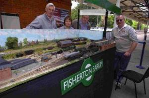 The Salisbury Journal published a report of the even including this photograph showing my Dad, Daniel, Mark and myself by Fisherton Sarum