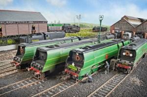 Bullied power at Fisherton Sarum. 21C6 (left) was a Salisbury engine her entire life