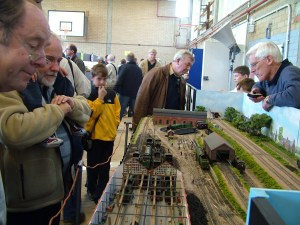 Visitors to Wycrail view Fisherton Sarum, the fiddle yard always gets a sneaky look too...