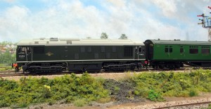 A view of the SLW D5016 on non ETH fitted Bulleid stock one of the reasons why they were needed on the BR(s)