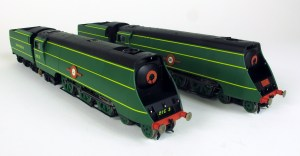 Hornby livery samples of 21C1 and 21C3 together