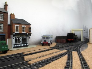 The small engine shed and coal stage can be seen in the back corner of Canute Road Quay