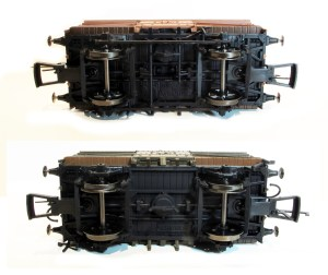 Underframe comparisons Dia 1529 top & Dia 1530 bottom