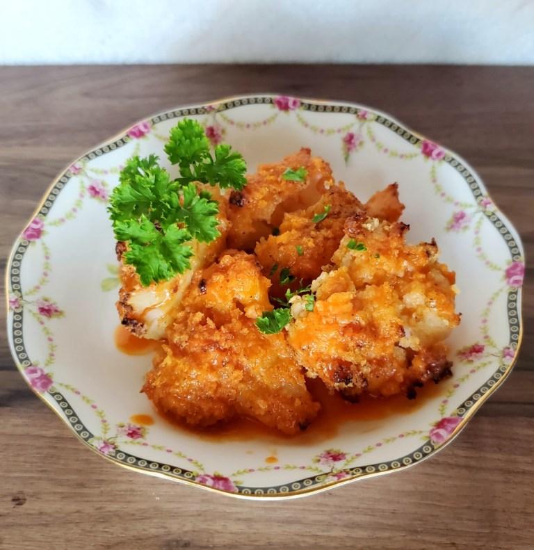 Panko Crusted Buffalo Cauliflower