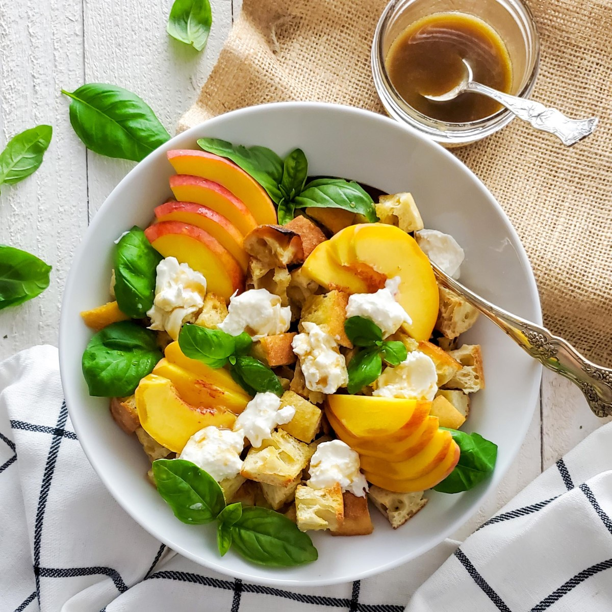 peach panzanella salad feature
