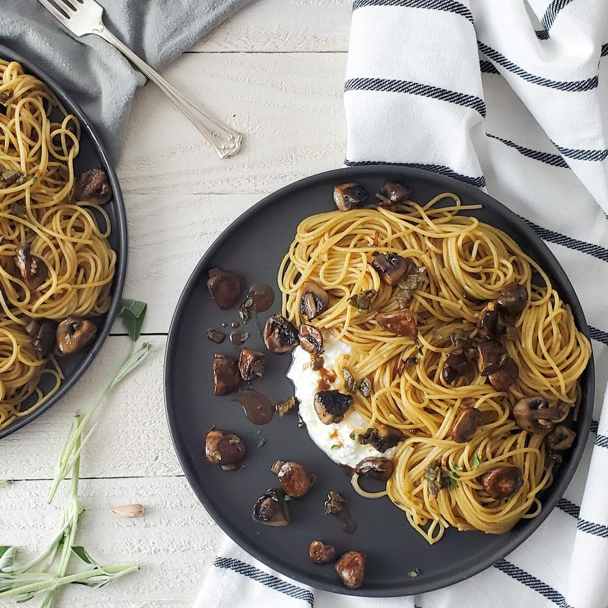Creamy Mushroom Pasta Feature