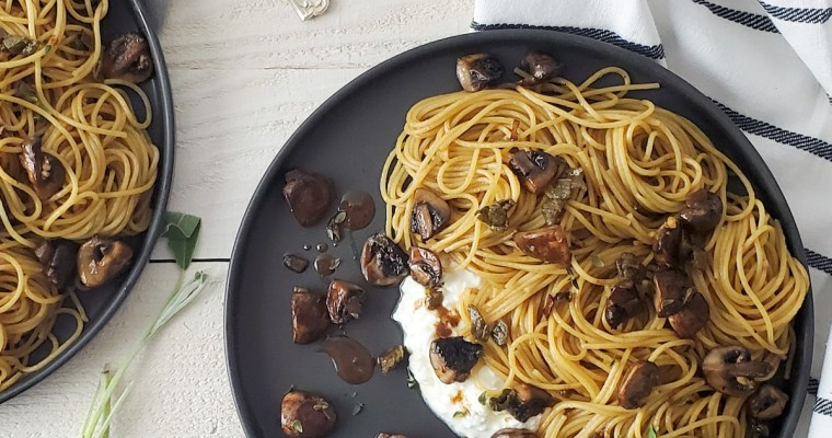 Creamy Mushroom Pasta with Crispy Sage