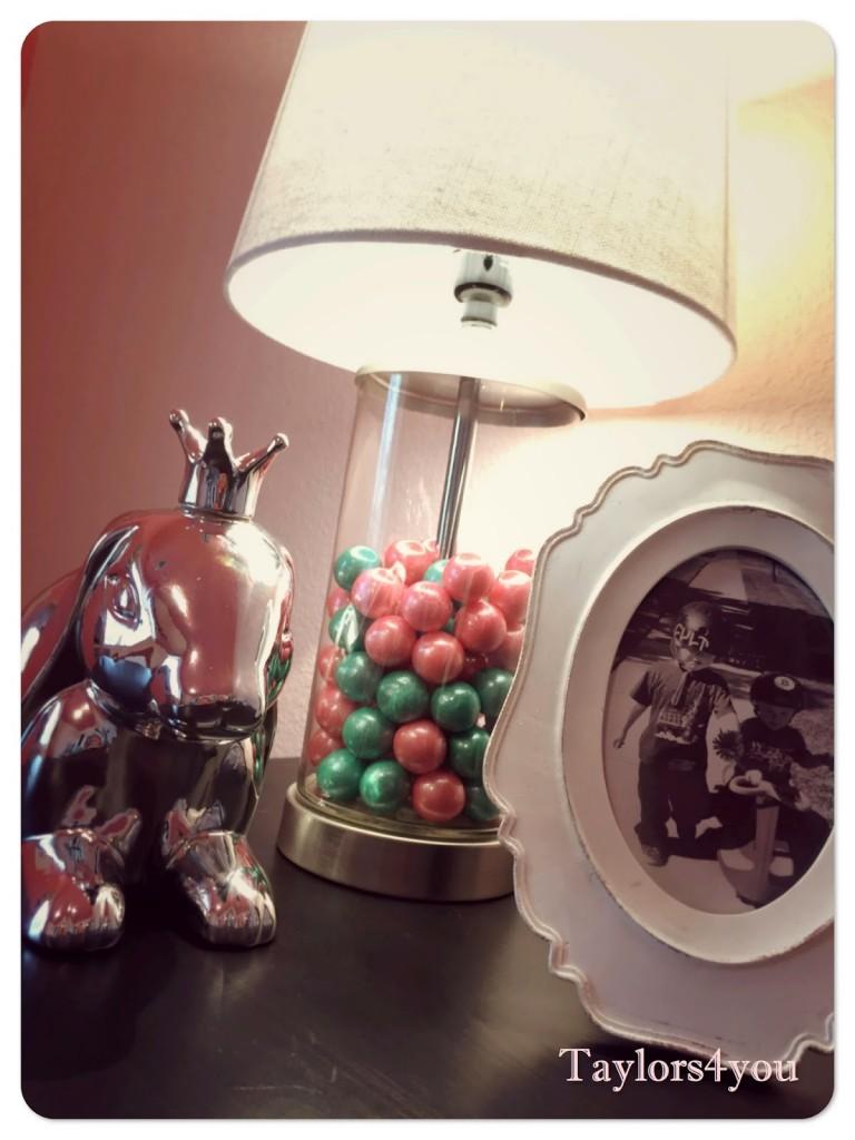 DIY Glass Gumball Filled Lamp