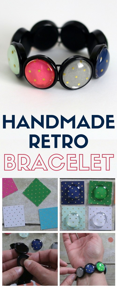 DIY a handmade retro bracelet using a Craft Fantastic jewelry kit. Customize with your personal style to become a one of a kind piece of jewelry.