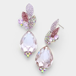 Southern Belle Glitz Annaliese Violet Earrings
