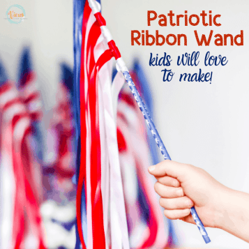 American Flag Ribbon Wand