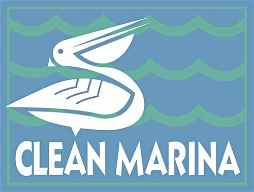"""Look for marinas certified as a """"Clean Marina."""