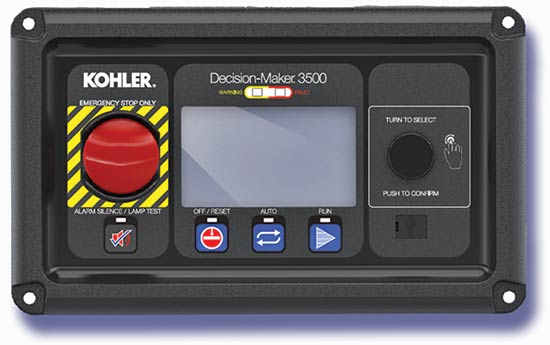 The Kohler DEC 3500 controller offers a newly designed customer interface for easier data entry and retrieval.