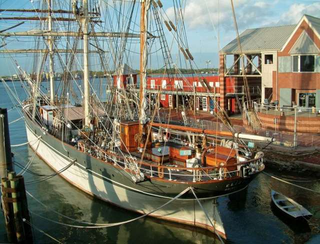 Pier 21 is home to 1877 Tall Ship Elissa. Photo: Troy Gilbert