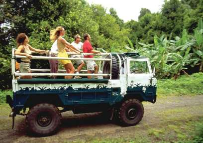 Adventure Jeep tours offer visitors the opportunity to explore Grenada's natural beauty.