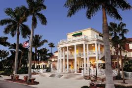 Old Florida's island elegance greets guests upon arrival at The Gasparilla Inn