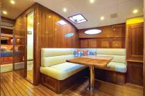 Customizeable layouts offer galley up and down options. Photo credit: Andrea Francolini