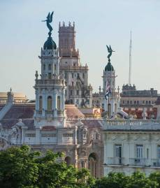 Havana's colonial quarter rises from the heart of the city.