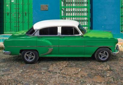 A vintage auto in Trinidad