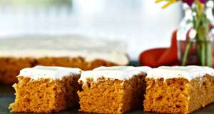 Halloween pumpkin bars