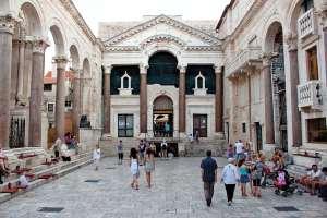 Peristyle square in Split, Sv Duje cathedral, Diocletian's Palace, Homar, Vis Harbor, Croatia, Trogir Castle, Croatia Hva rStary Grad gourmet store,Lavender,Bisovo Blue Cave, Cruising Croatia, charter in Croatia
