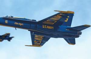 An image of the Blue Angels in Myrtle Beach