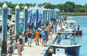 An image of the Charleston Boat Show, one of the Carolina Boat Shows you can't miss.