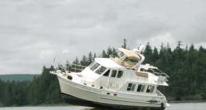 This is an image of a boat that has run aground. Learn how to re-float your boat.