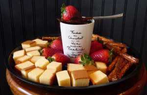 An image of chocolate fondue for Chocolate Fondue recipe