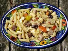 an image of muffaletta pasta salad