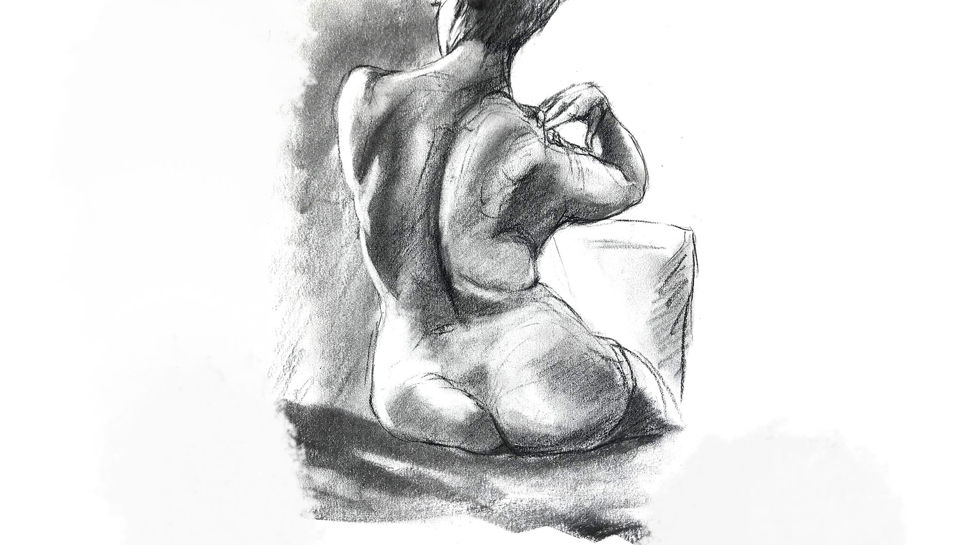 Figure drawing by Ron Reekers