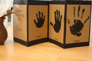Father Day hand print card