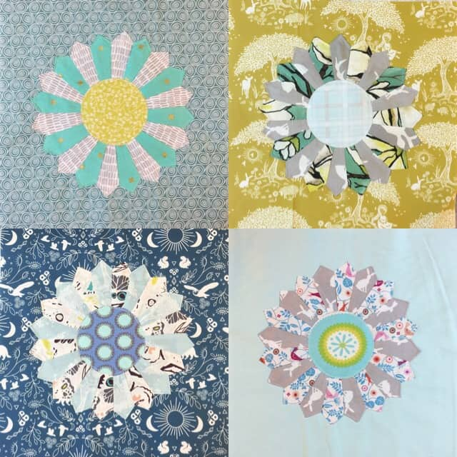 Whimsical Dresden quilt – making part 2