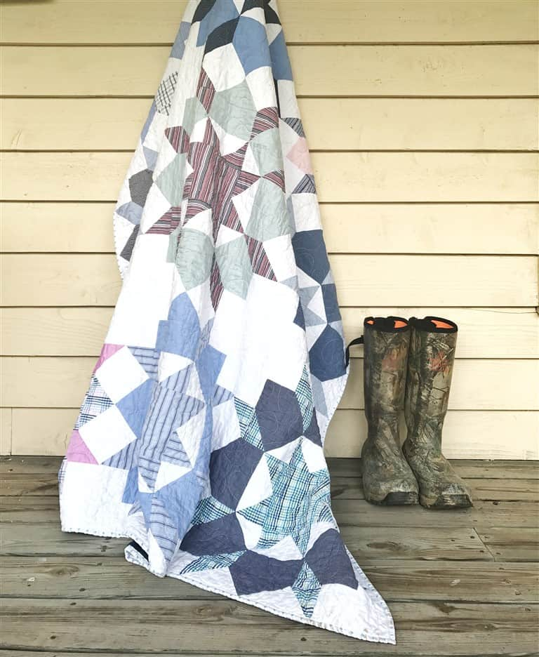 Quilt Reveal – Swoon #4, A Father's Shirts